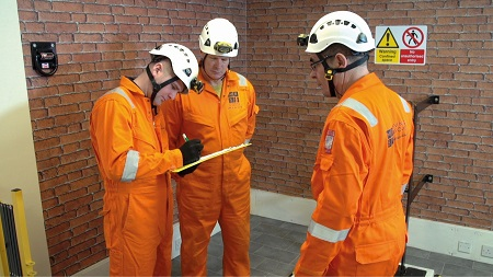 MRS Training team undertaking a confined space risk assessment