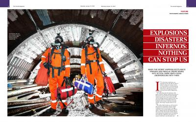 Image of the Herald Magazine article about MRS Training & Rescue