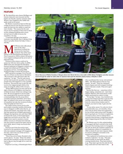 The Herald Magazine article about MRS Training & Rescue