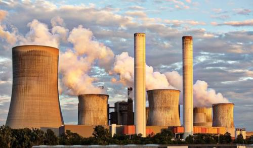 A coal fuelled power station