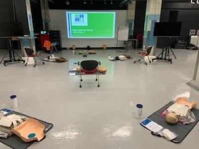 Socially distanced first aid course