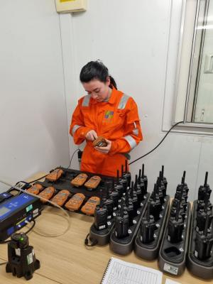 Derek's daughter, Lindsey, carrying out bump testing at FCC