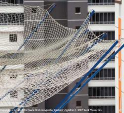 Working at Height Safety Netting Example