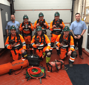 The MRS Training and Rescue team in Dinas, Wales today