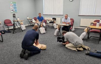 MRS Training & Rescue's Phil Wragg demonstrating CPR