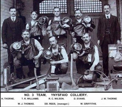 The Dinas Mines Rescue Team back in 1912