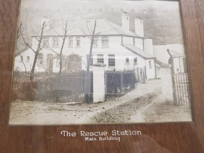 A historic photo of the Dinas training centre when it first opened