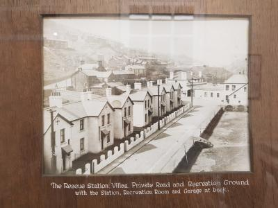 A row of  Villa housing which surrounded the Dinas station when it opened in 1912