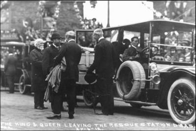 The Royals visiting our Dinas station opened in 1912