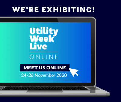 Banner saying We're Exhibiting at Utility Week Live Online