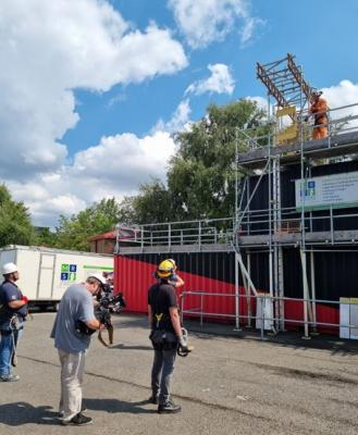 BBC East Midlands Today filming the work at height training at MRS Training & Rescue